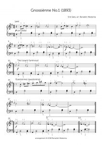 Satie – Gnossienne No. 1
