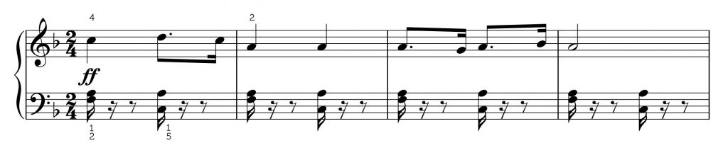 Toreador song with rests