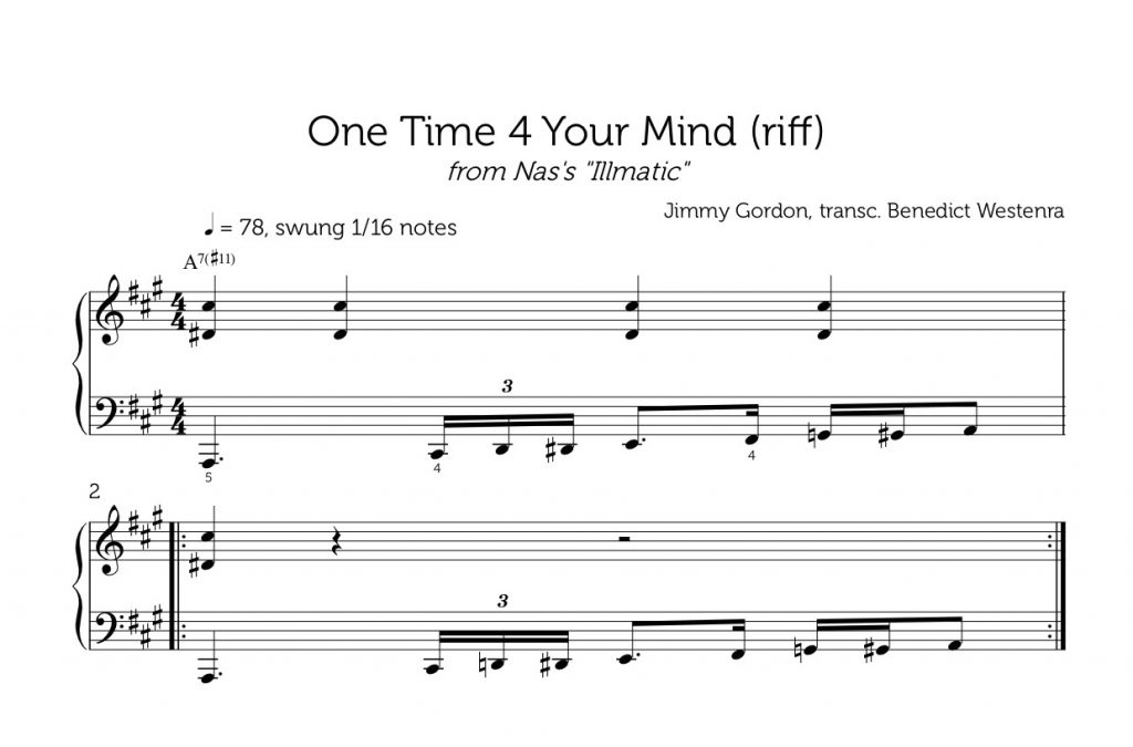 One Time 4 Your Mind